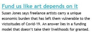 Arts Professional article introduction